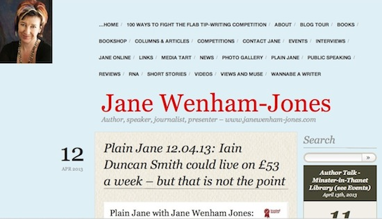 Click picture for Jane's main blog