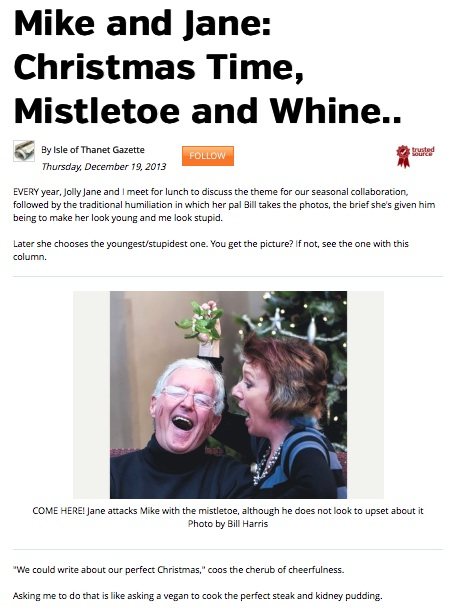 Mike and Jane: Christmas Time, Mistletoe and Whine… | Jane Wenham ...