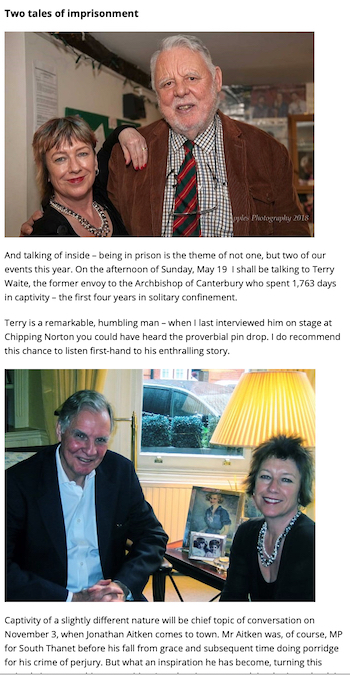7b73fbad4f Being in prison is the theme of not one, but two of our events this year.  On the afternoon of Sunday May 19th, I shall be talking to Terry Waite, ...